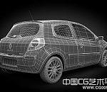 高清VR渲染红色轿车3D模型下载
