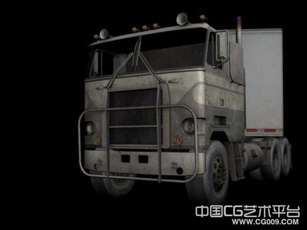 一辆废旧的大卡车3D模型下载