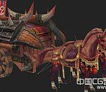 不错的马车全套3D模型带骨骼