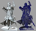 神话女祭司3D模型下载 高模下载
