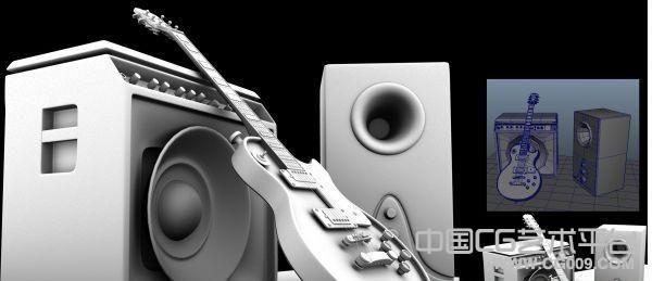 吉他音箱3D模型下载