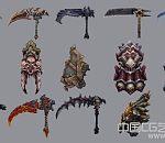 暗黑血统2 几乎所有武器合集 总共134个武器 你还