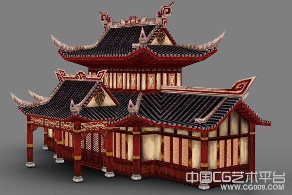 古典红木房子模型下载