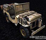 老式军用战地车3D模型下载