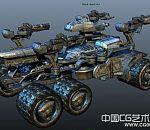 科幻片中的帅气装甲车3D模型下载
