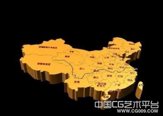 3D中国地图模型下载