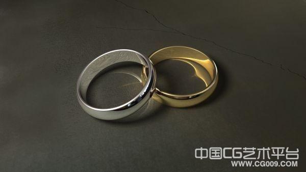 高清渲染戒指一队3D模型下载