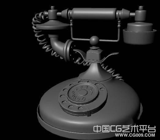 民国手摇老式电话机3D模型