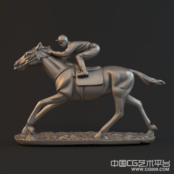 圣诞快乐-骑士雕塑3D模型下载  铜雕骑士模型下