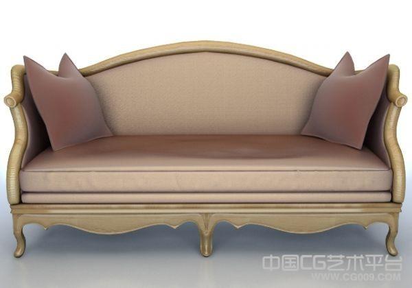 4款豪华欧式真皮沙发3D模型下载