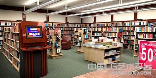 室内图书馆书架模型 书籍模型  沙发茶几模型 电