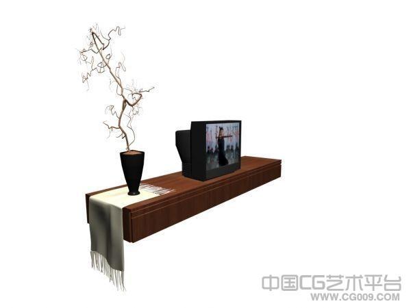 tv台3d模型  电视柜3d模型下载