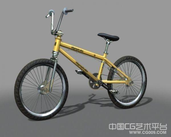 maya自行车模型 带灯光贴图