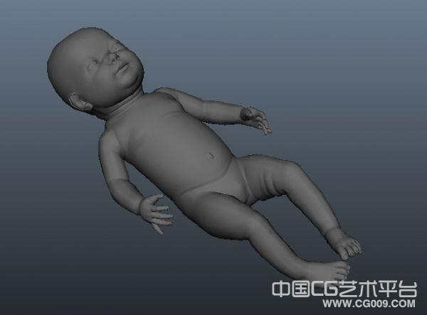 一个写实风格的婴儿宝宝3d模型下载