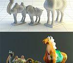 唐三彩 3d模型有材质,UV,贴图齐全