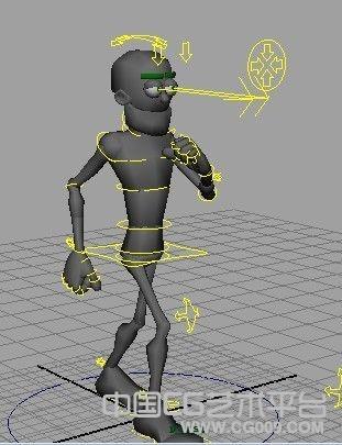 迪士尼经典低位走路MAYA动作  2009版本