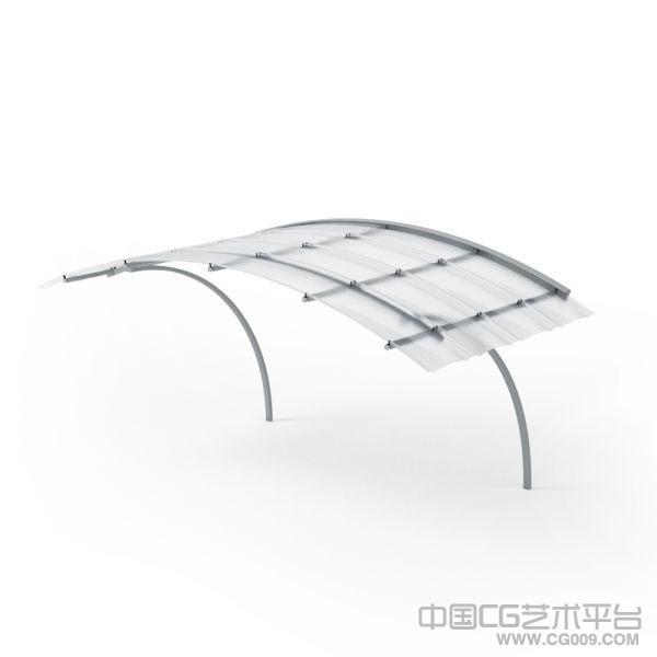 窗户挡雨布篷3d模型下载