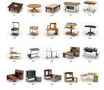 常用的办公桌椅3d模型合集下载