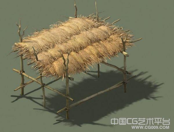 草棚3d场景模型下载 马棚场景模型下载