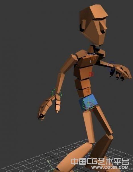 小孩走路卡通绑定3d模型下载
