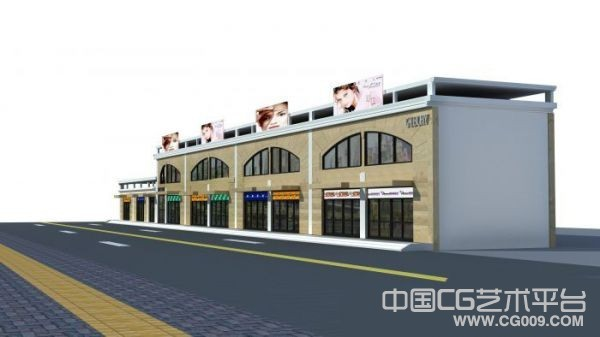 一个商业建筑效果模型下载