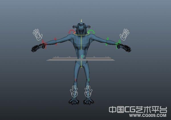 带绑定的maya怪物模型下载  怪物绑定模型