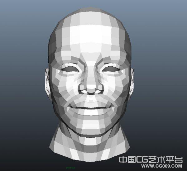 不错的maya头部模型 基础头部模型