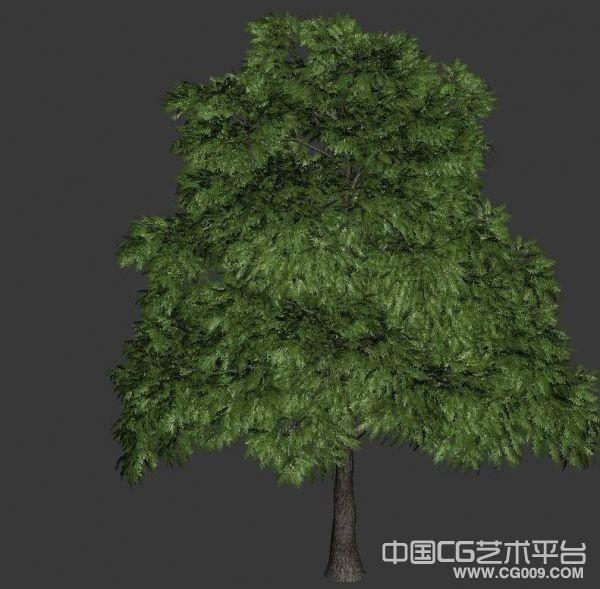 风吹树叶动画模型3d模型下载  树木模型  绿色树