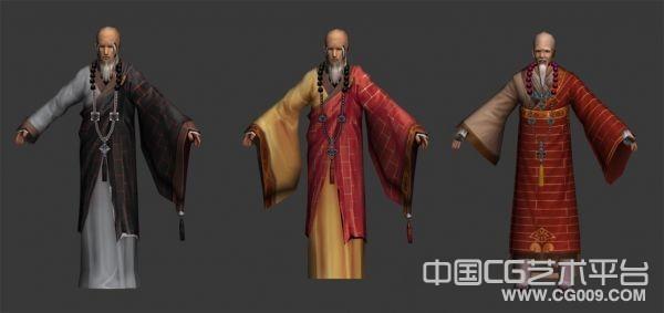剑三少林和尚3d模型下载   三个少林方丈模型