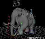 超棒的maya绑定大象模型下载   带表情  很可爱