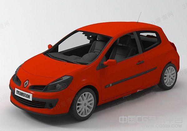 3d红色轿车模型下载