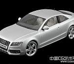 银白色奥迪轿车3d模型下载