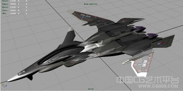 战斗妖精雪风mave b-503 战斗机模型带贴图
