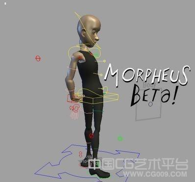 光头卡通男人maya绑定模型下载