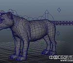 一只带绑定的狮子maya模型下载