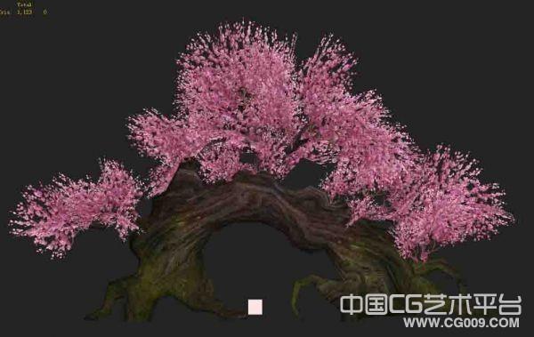 3棵古老的桃树3d植物模型下载