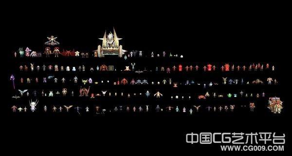 【成套】QQ仙侠_角色合集3d模型下载  带贴图