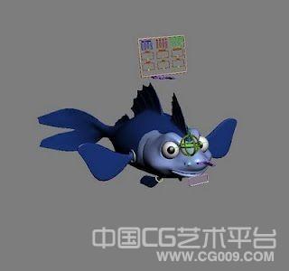 不错的3d大眼金鱼模型 已绑定 喜欢的拿去