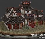 很不错的金沙客栈古建筑3d模型下载