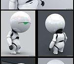 Q版次世代机器人模型(高模+底模)+骨骼动画 带