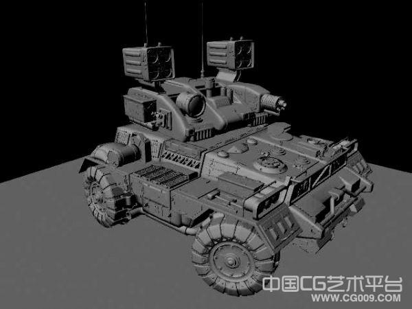 非常精细的轻型通信装甲车3d模型下载
