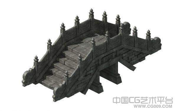 精品小石桥3d建筑模型下载  带灯光材质