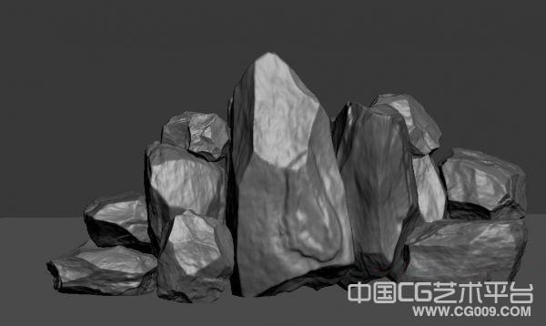 比较精细的石头模型下载