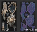 tera全套武器之骑士矛与盾3d兵器模型下载