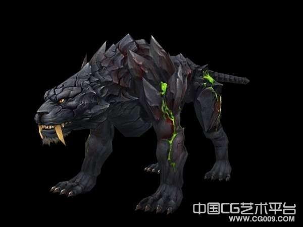 经典坐骑黑虎3d模型下载