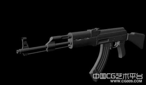 AK47枪械3d模型下载