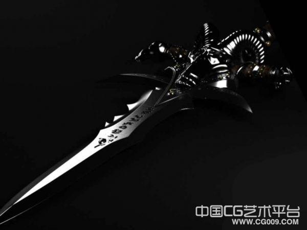 一柄锋利的奇剑模型