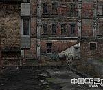 写实废弃烂尾楼场景建筑
