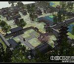 《河阳城全景》古建筑效果模型下载