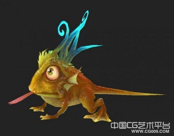 色彩斑斓的变异蛤蟆3d怪物模型下载